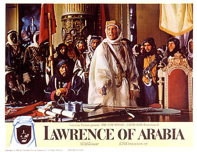 Lawrence Of Arabia, Anthony Quinn Poster by Everett