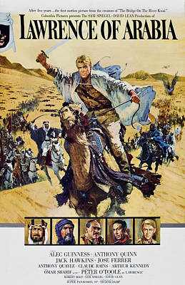 Lawrence Of Arabia, Top Peter Otoole Poster by Everett