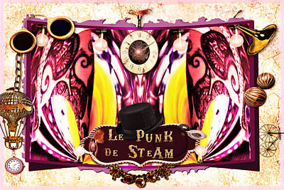 Le Punk De Steam Poster by Paula Ayers