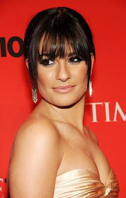 Lea Michele At Arrivals For Time 100 Poster by Everett