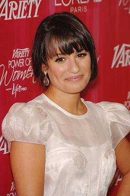 Lea Michele At Arrivals For Varietys Poster