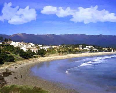 Leadbetter Beach Poster by Kurt Van Wagner