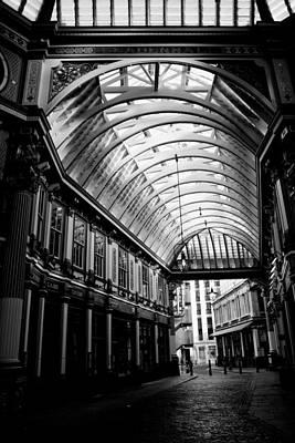 Leadenhall Market London Black And White Image Poster