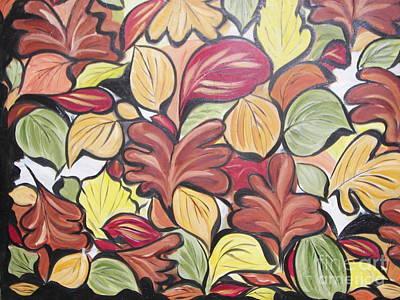 Leaves Of Autumn Poster by Rachel Carmichael