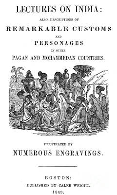 Lectures On India, 1849 Poster