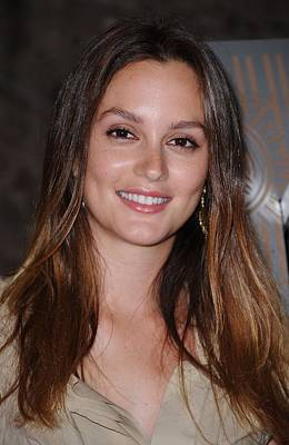 Leighton Meester At A Public Appearance Poster by Everett