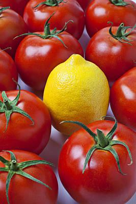 Lemon And Tomatoes Poster