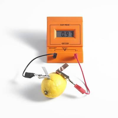 Lemon Battery Poster by