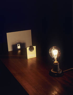 Lens Forming Image Of Lamp Poster