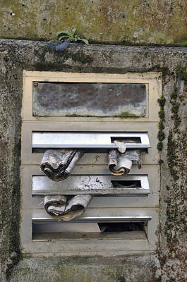 Letterbox With Old Newspapers Poster by Matthias Hauser