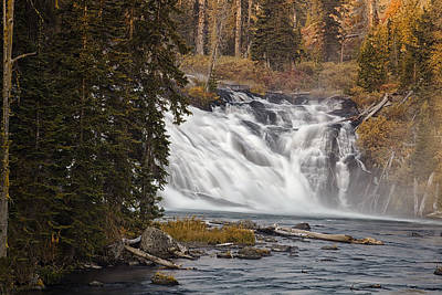 Lewis Falls - Yellowstone Poster by Andrew Soundarajan