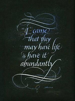 Life Abundant Poster by Judy Dodds