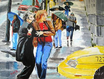 Poster featuring the painting Life In The Big City by Judy Kay