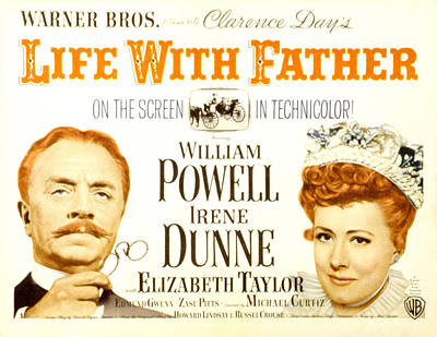 Life With Father, William Powell, Irene Poster by Everett