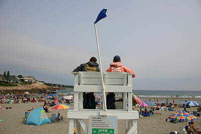 Lifeguards Watch Over The Traditional Poster