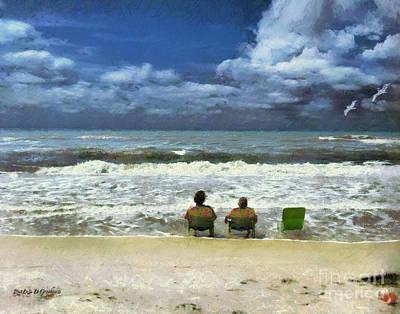 Life's A Beach Poster by Rhonda Strickland