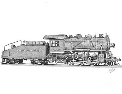 Light Frieght Steam Engine Poster by Calvert Koerber