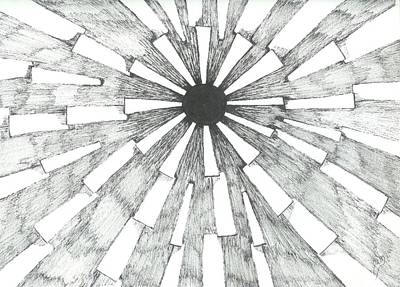 Light In The Dark - Sketch Poster by Robert Meszaros
