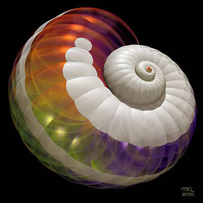Poster featuring the digital art Light Shell by Manny Lorenzo
