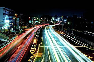 Light Trails Poster by Photo by ball1515