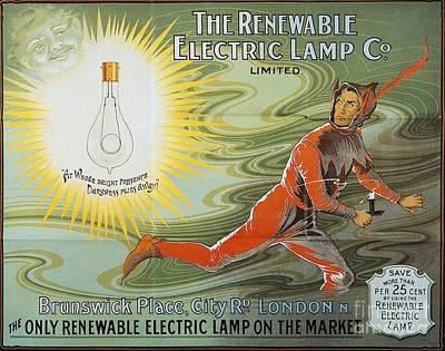 Lightbulb Ad, 1900 Poster