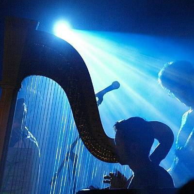 Lighted Harp Poster