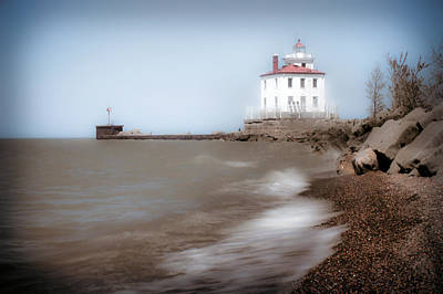 Poster featuring the photograph Lighthouse At Fairport Harbor by Michelle Joseph-Long