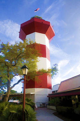 Lighthouse At Hilton Head Poster