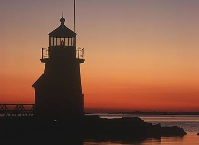 Lighthouse At Sunrise Poster by Axiom Photographic