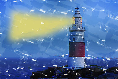 Lighthouse Poster by Gladys Yanes