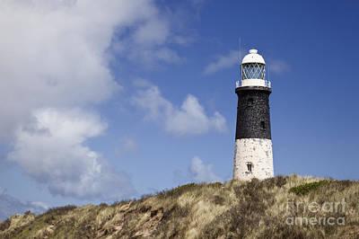 Lighthouse On Hillside Poster by Jon Boyes