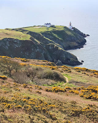 Lighthouse On Howth Cliffs Poster by Semmick Photo