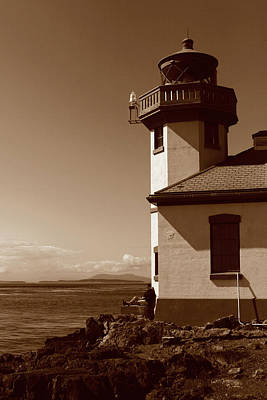 Poster featuring the photograph Lighthouse San Juan by Lorraine Devon Wilke
