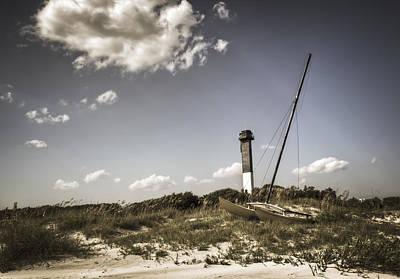 Lighthouse Skiff Poster by Drew Castelhano