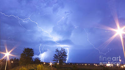 Lightning-5393 Poster by Chuck Smith