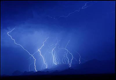 Lightning Near Tucson, Usa Poster