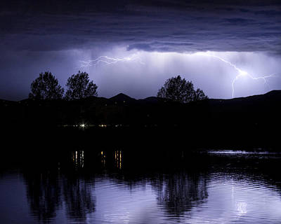 Lightning Over Coot Lake Poster by James BO  Insogna