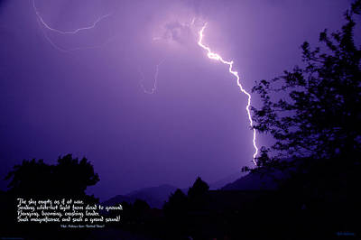 Lightning Over The Rogue Valley Poster by Mick Anderson