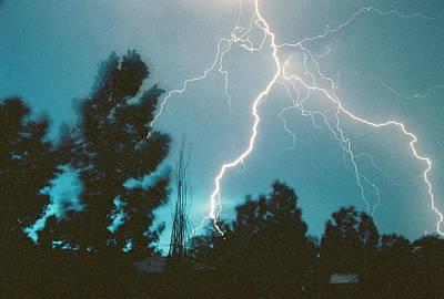Lightning Trees Poster