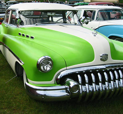 Lime Green 1950s Buick Poster by Kym Backland