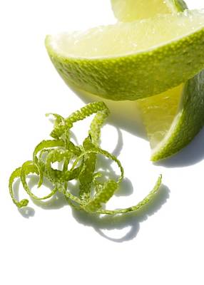 Lime Slices And Peel Poster