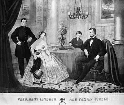 Lincoln & Family Poster by Granger