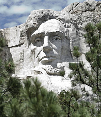 Lincoln On Mt Rushmore Poster