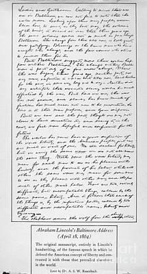 Lincoln: Speech, 1864 Poster by Granger