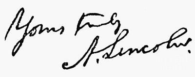 Lincolns Autograph Poster