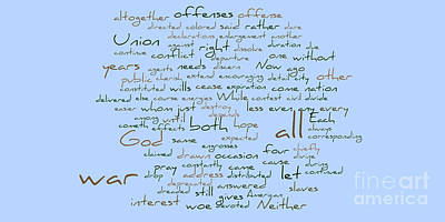 Lincoln's Second Inagural-word Cloud Poster