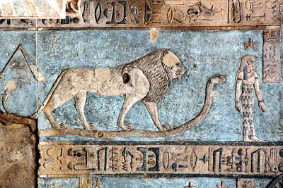 Lion At Dendera, Egypt Poster by Joe & Clair Carnegie / Libyan Soup