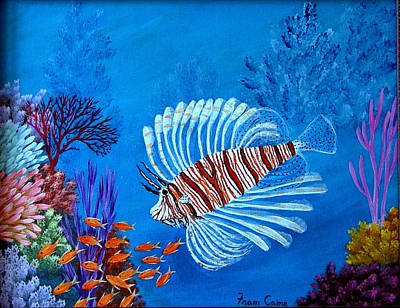 Lion Fish Poster by Fram Cama