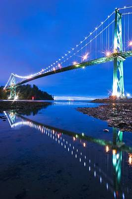 Lions Gate Bridge, Vancouver, Canada Poster by David Nunuk
