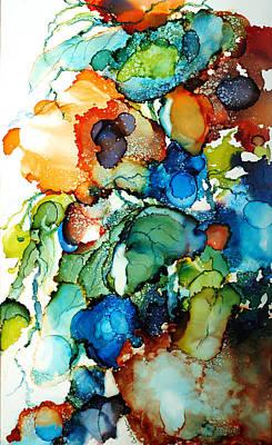 Liquid Poppies Poster by Lynn Callahan